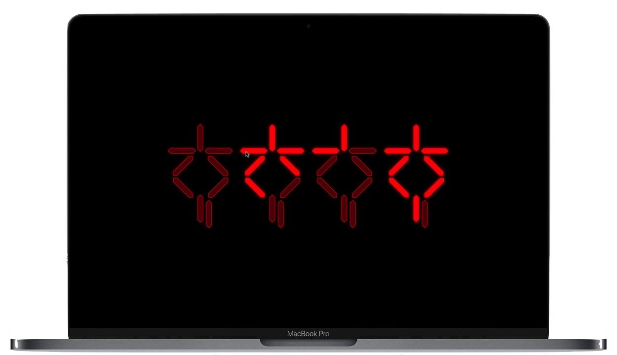 Predatorスクリーンセーバーの画面