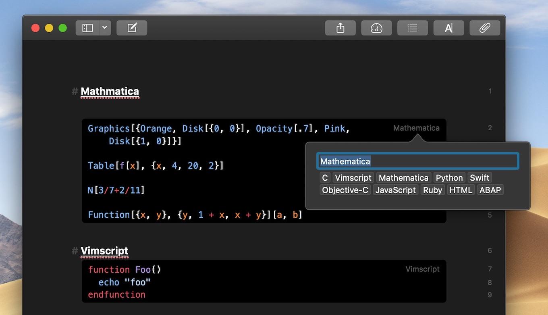 Mathematica、Vimscript、Smalltalk、GraphQL、Handlebars
