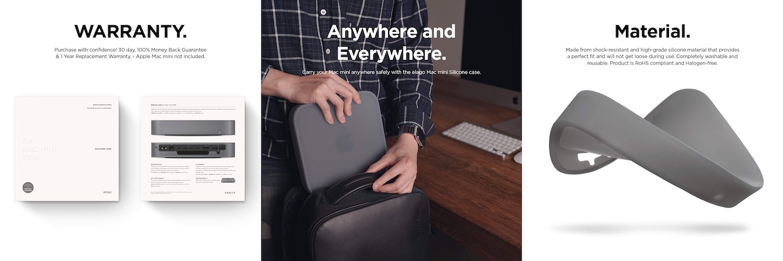 elago Mac Mini 2018シリコンケースの機能2
