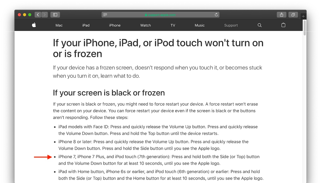 If your screen is black or frozen