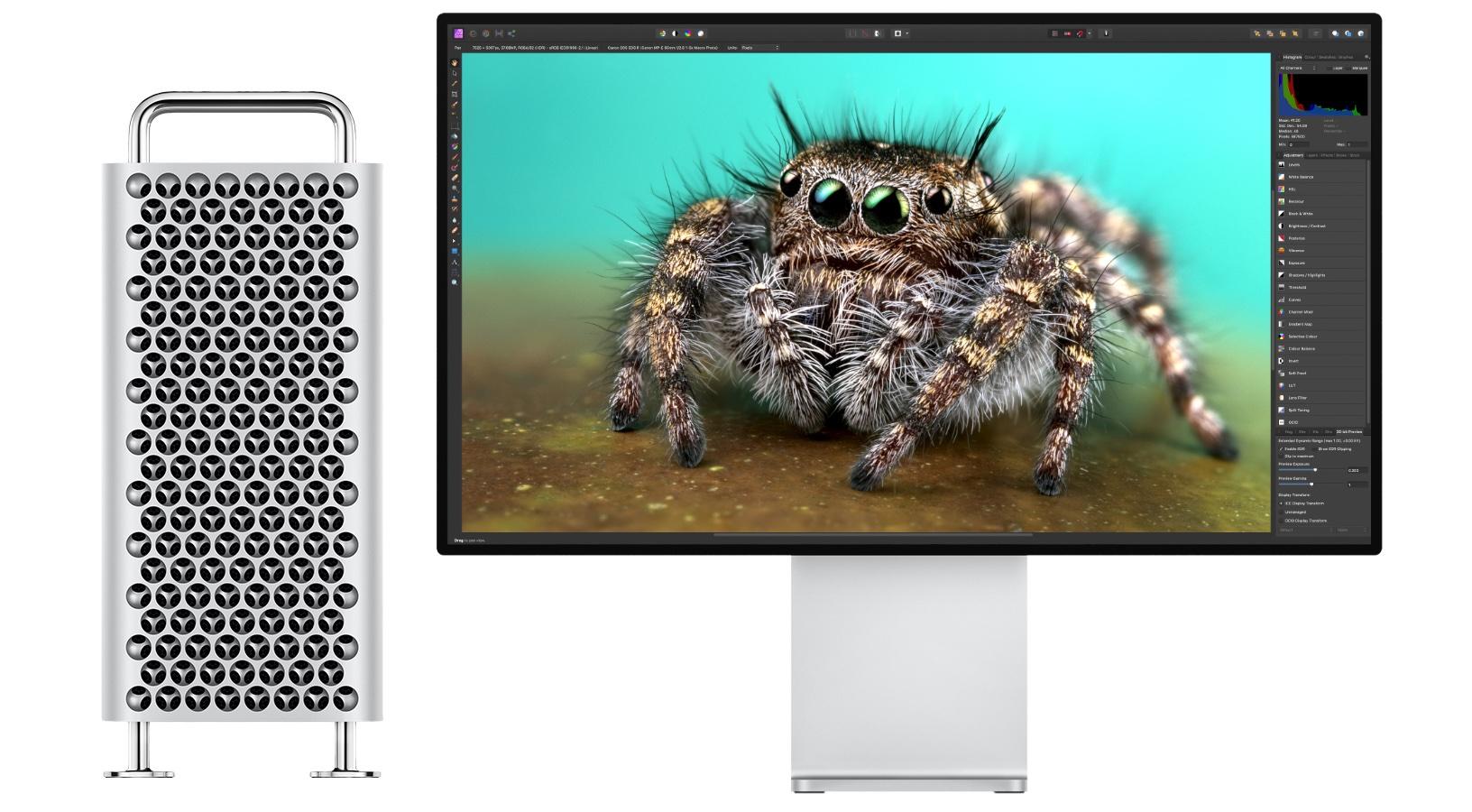 Mac Pro (2019)とPro Display XDRモニタ、Affinity Photo