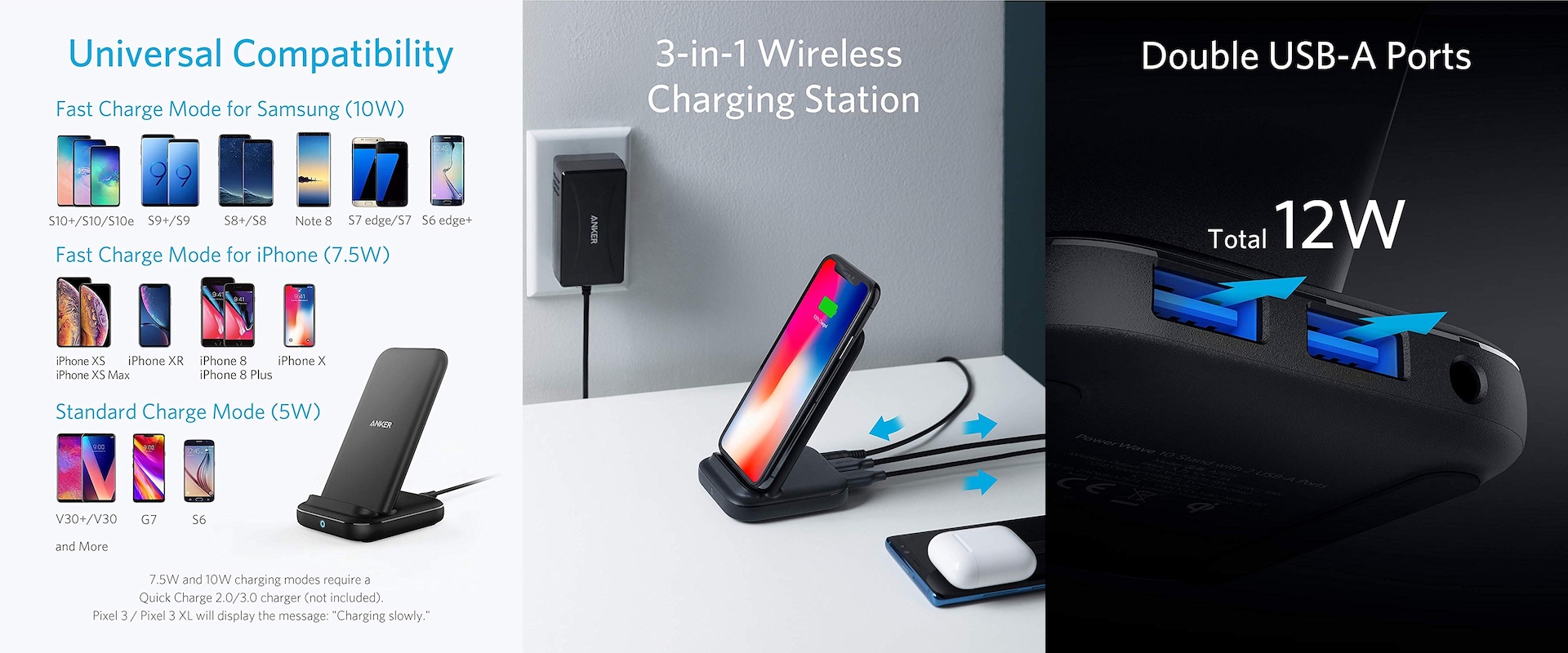 Anker PowerWave+ Stand with 2 USB Ports