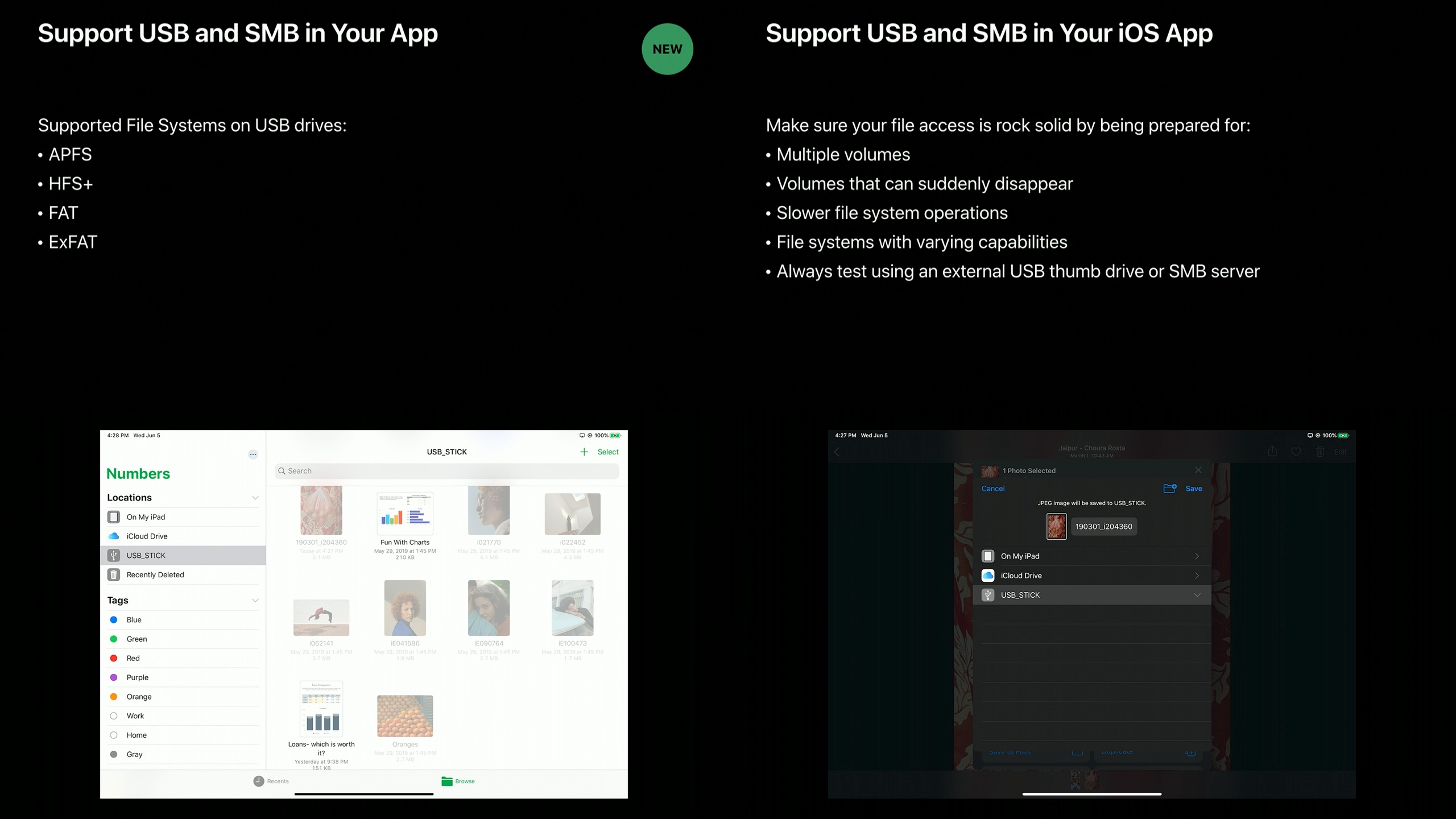 support USB your app