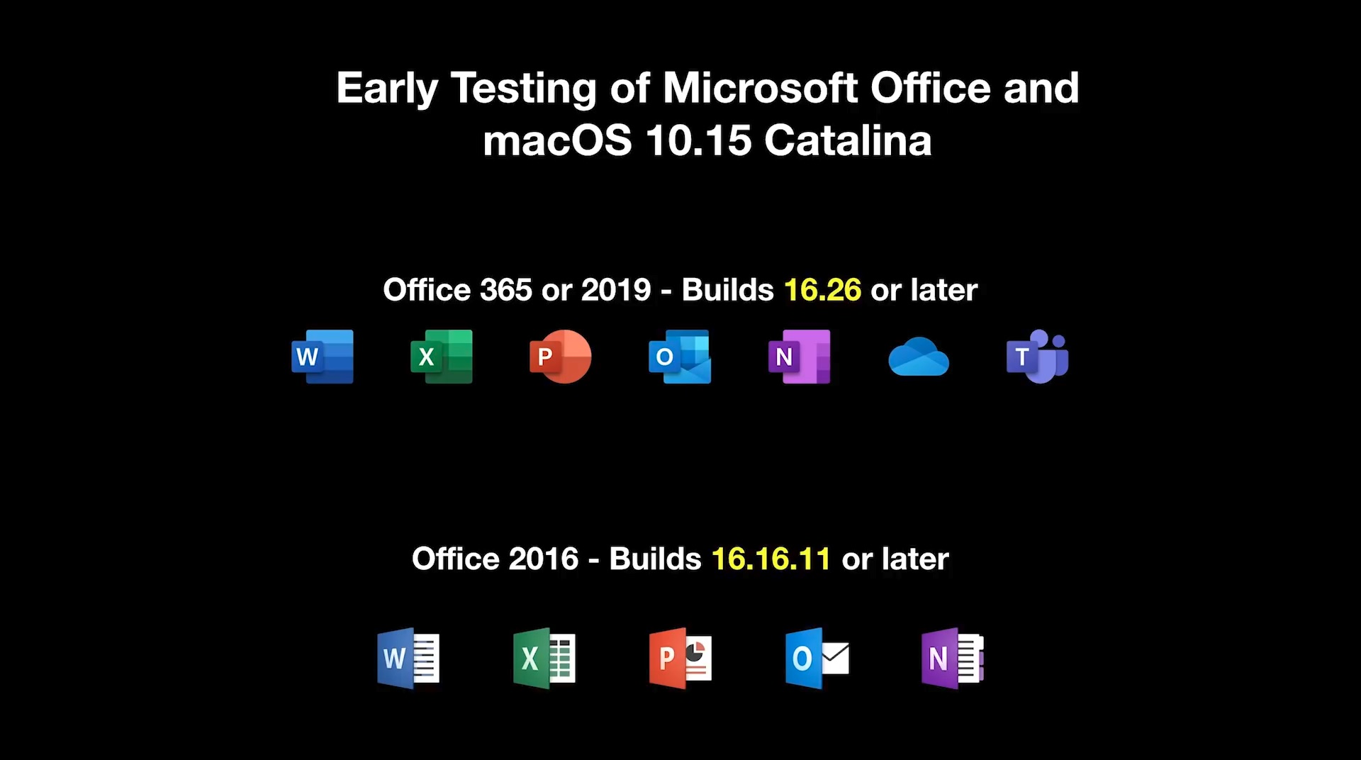 Microsoft Office for MacとmacOS Catalina