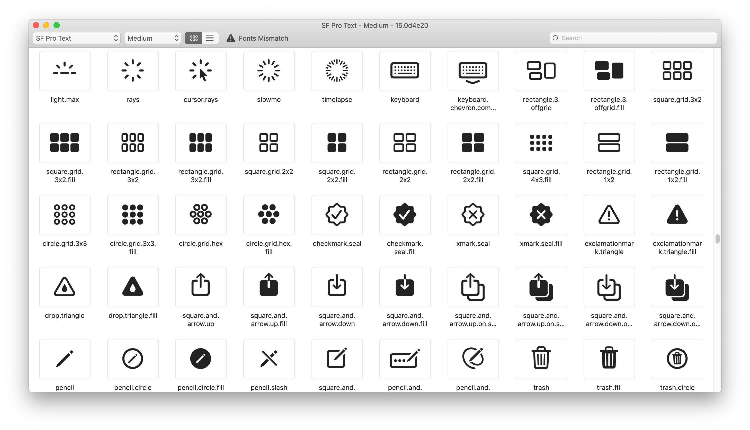 Apple、1,500以上のベクター・シンボル「SF Symbols」と新しいSerif