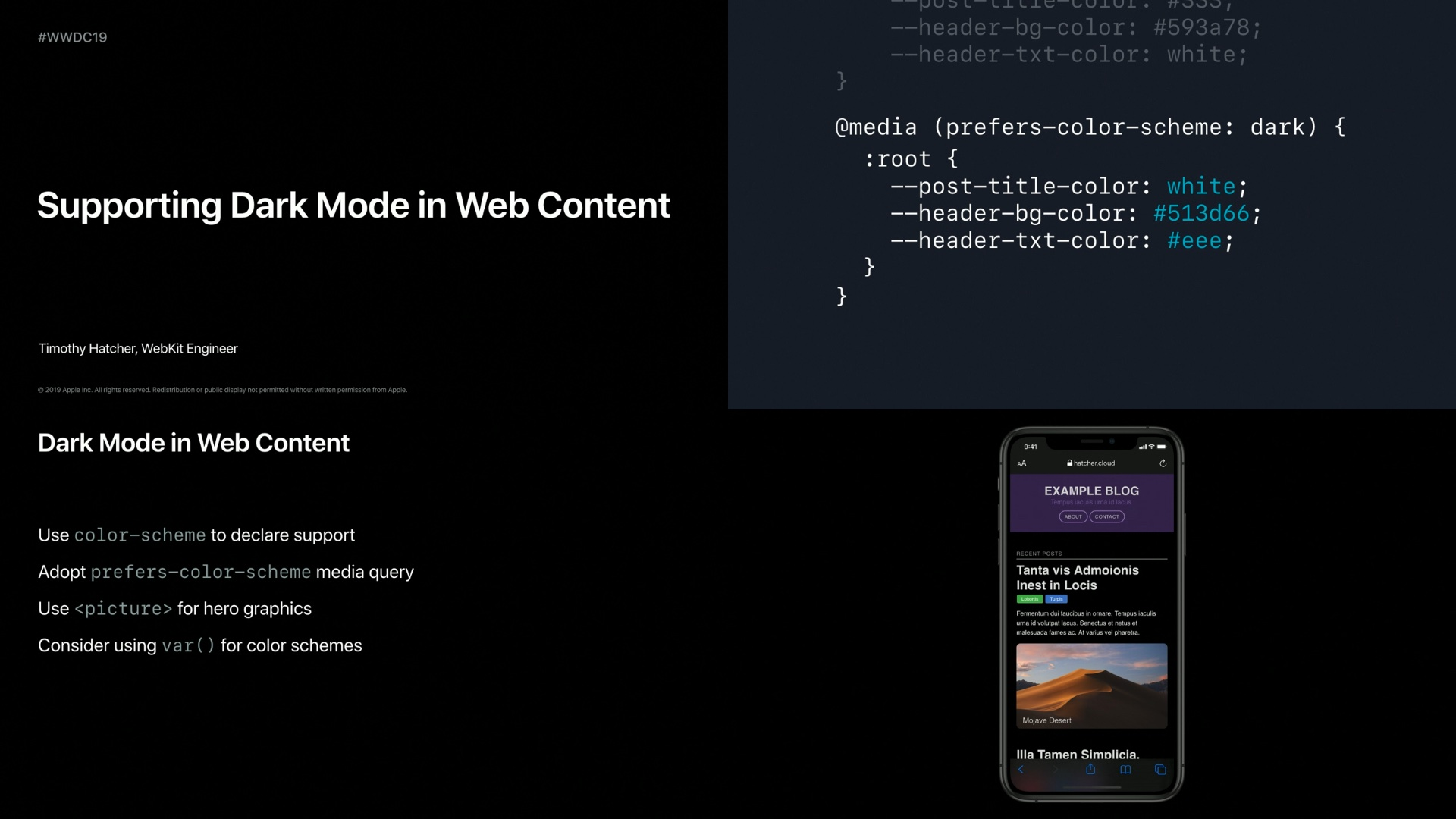 Supporting Dark Mode in Your Web Content