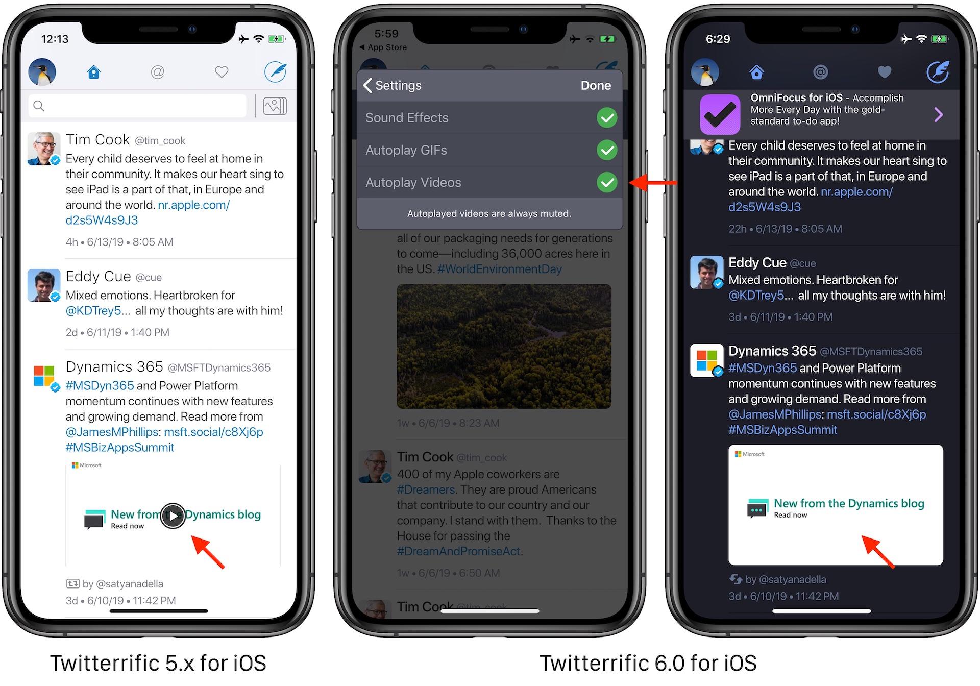 Twitterrific 6.0 for iOSのインライン再生
