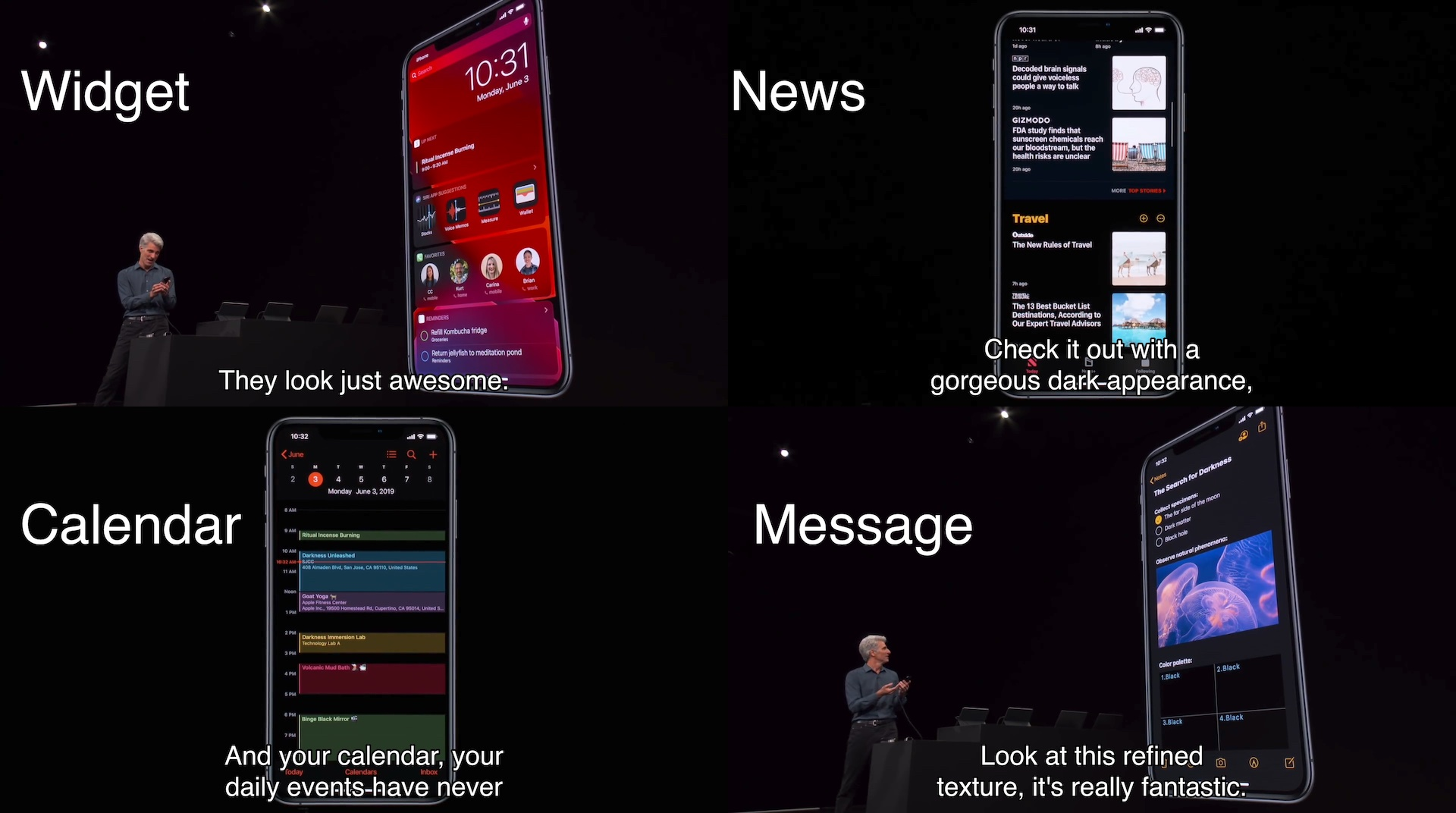 iOS 13のダークモード