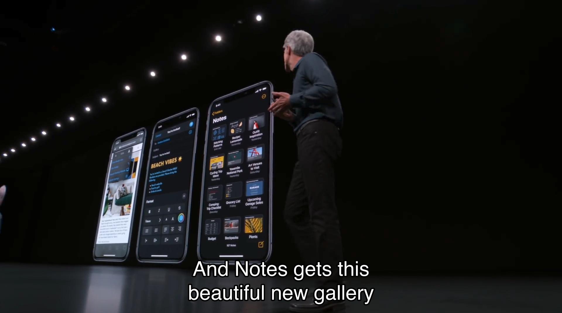 iOS 13のSafariとメールとノート