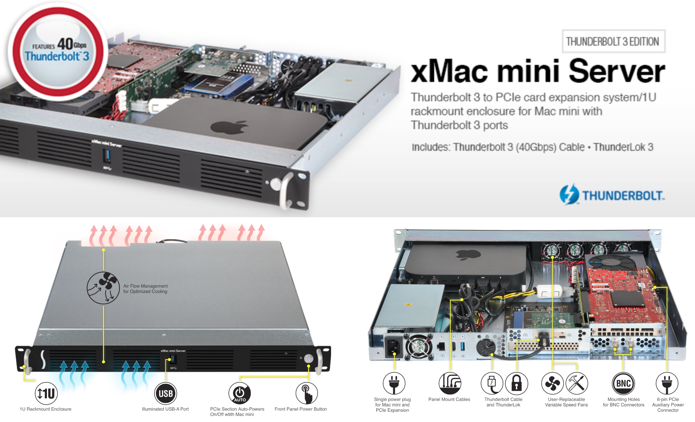 xMac™ mini Server Thunderbolt™ 3 Edition