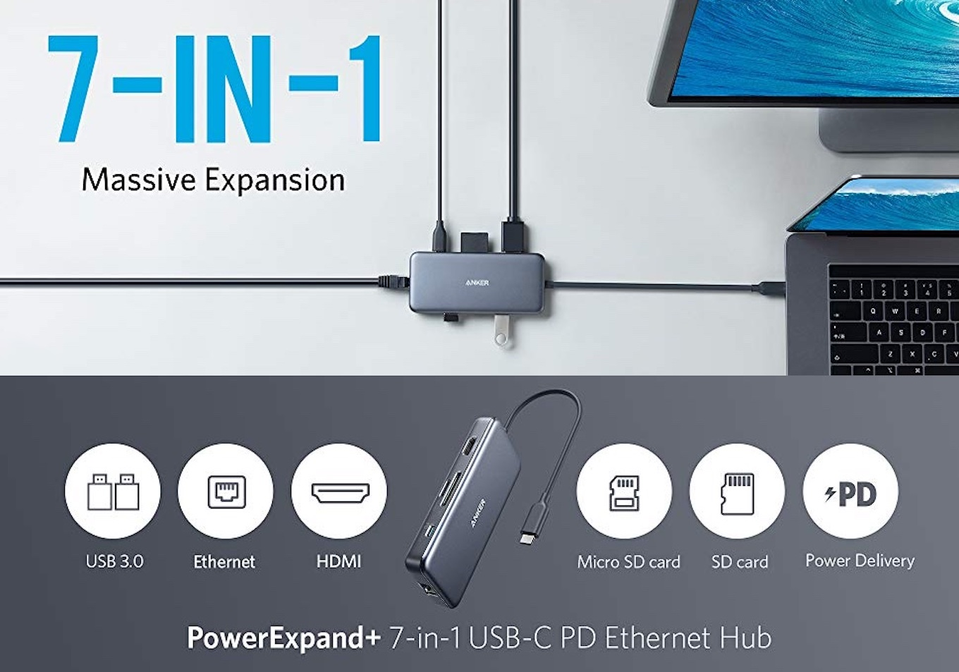 Anker PowerExpand+ 7-in-1 USB-C