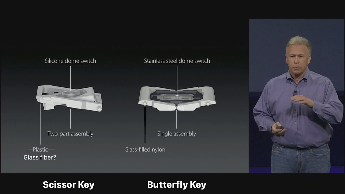 MacBook Scissor and Butterfly Key