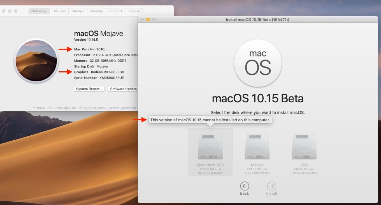 Mac Pro (Mid 2010)とmacOS 10.15 Catalina