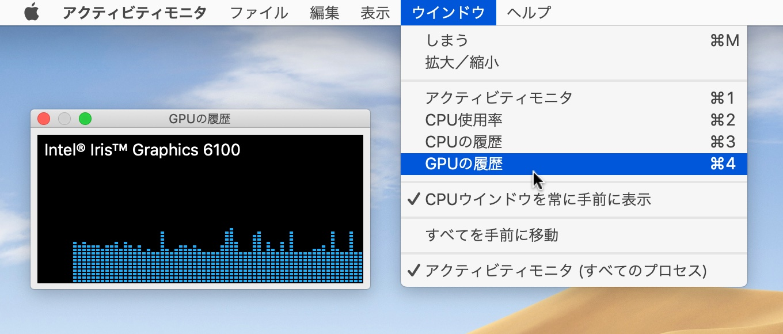 macOS 10.14 MojaveのGPU履歴