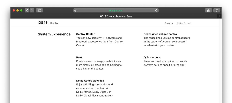 iOS 13のHolding