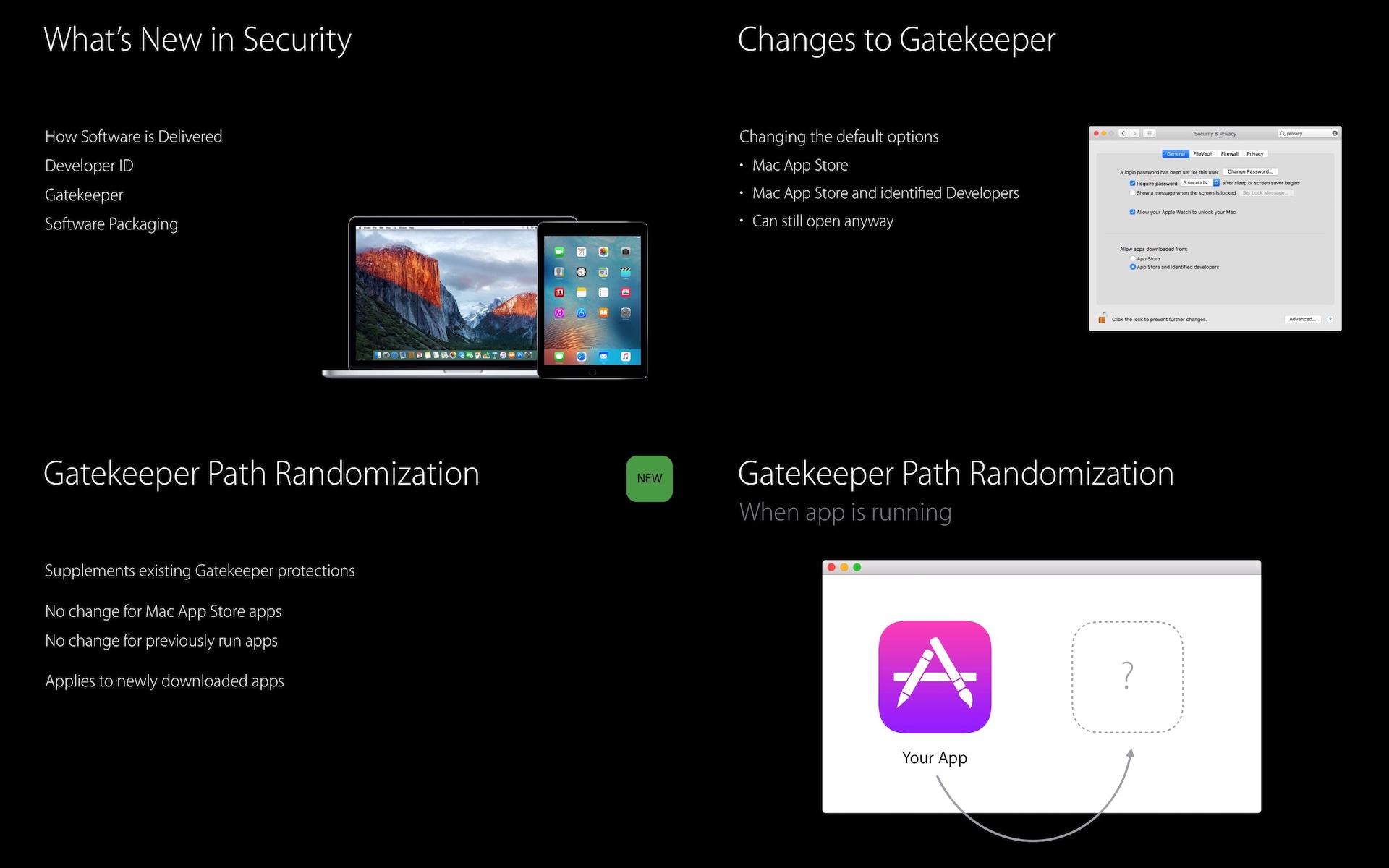 macOS 10.15 CatalinaとmacOS 10.12 SierraのGatekeeper