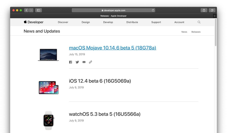 macOS Mojave 10.14.6 beta 5 (18G78a)