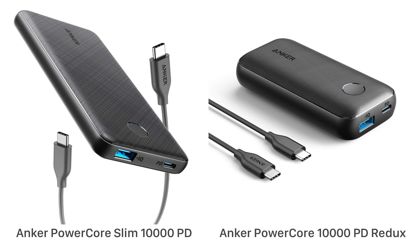 Anker PowerCore Slim 10000 PD and Redux Hero