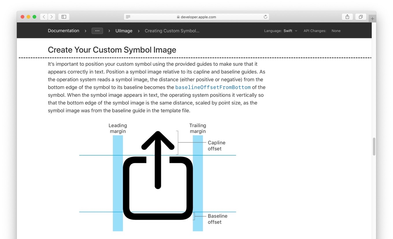 Creating Custom Symbol Images for Your App