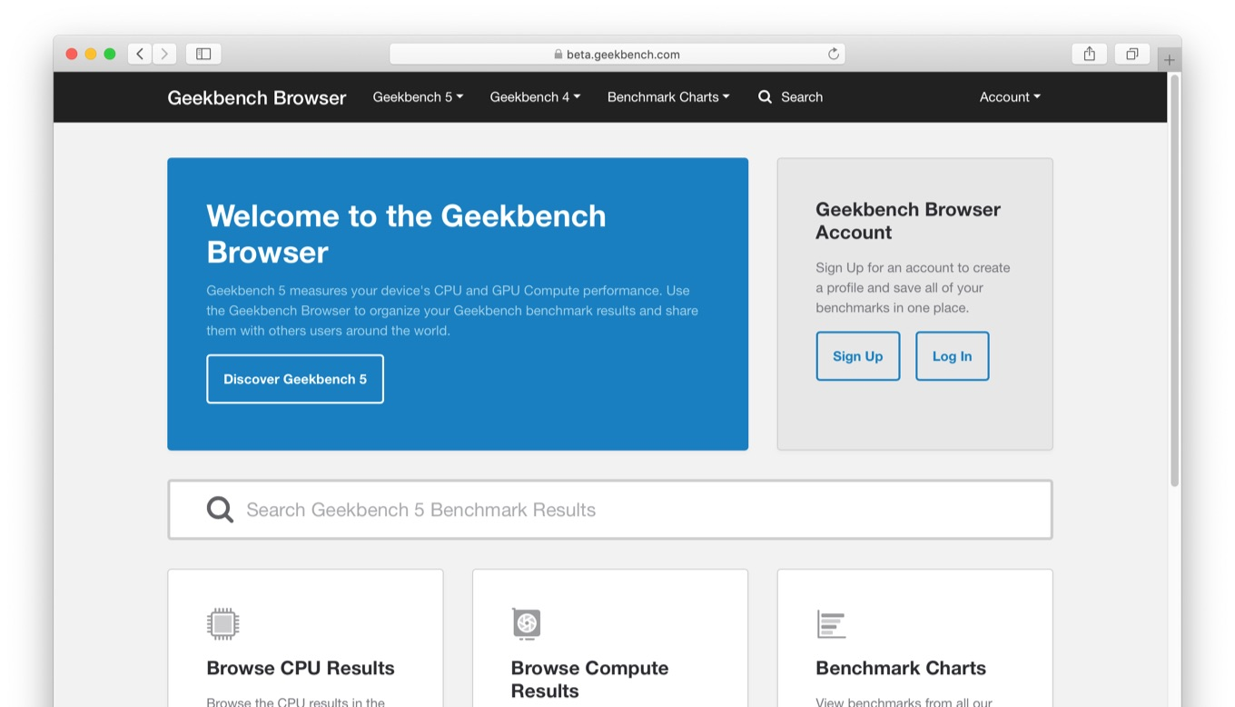 Geekbench Browser