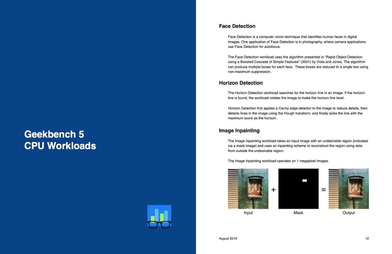 Geekbench 5 のワークロード
