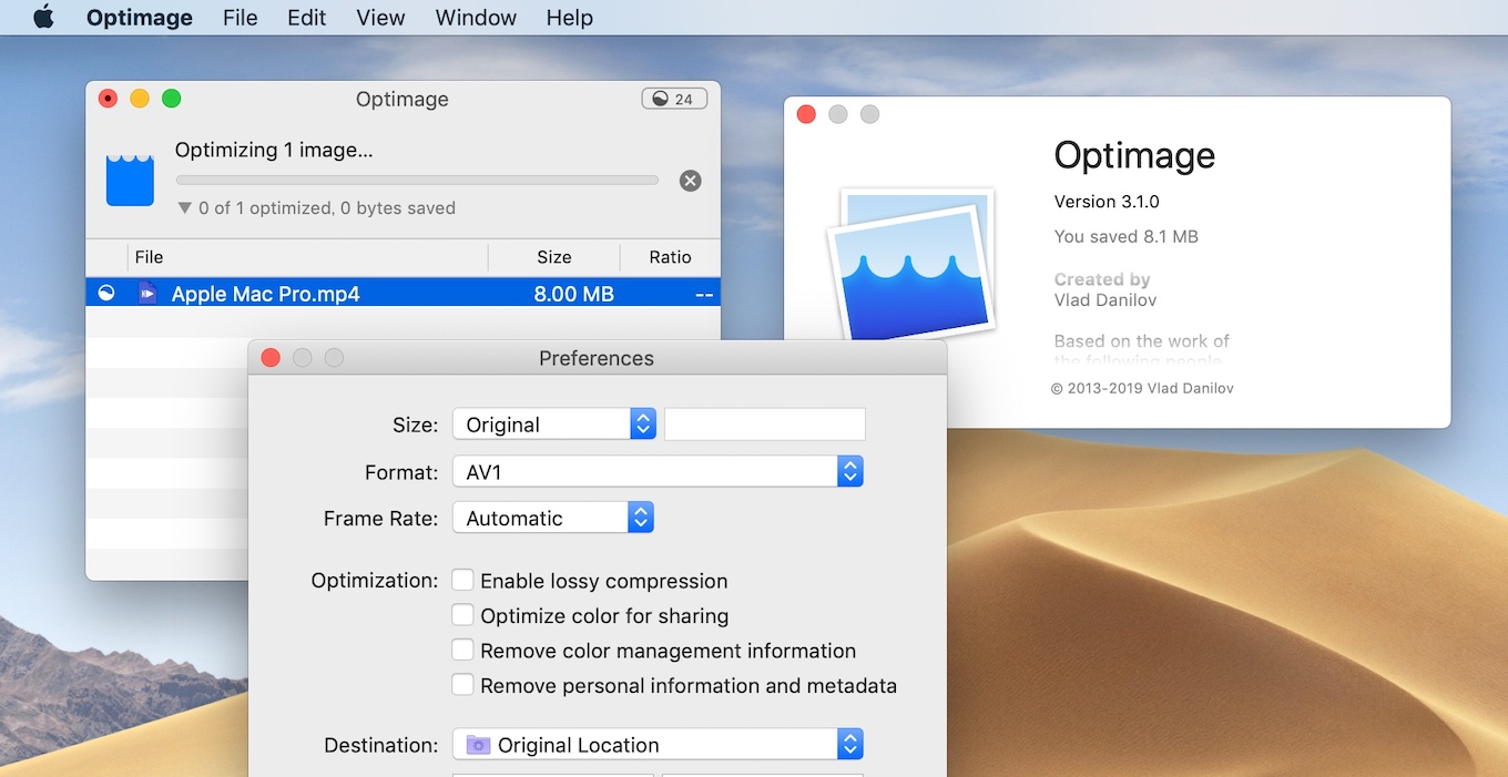 Optimage 3.1.0