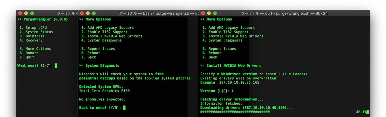 Purge Wrangler v6のSystem Info