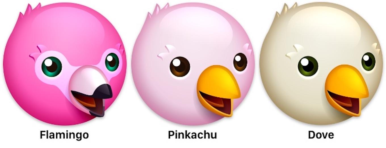 Flamingo, Pinkachu, Dove