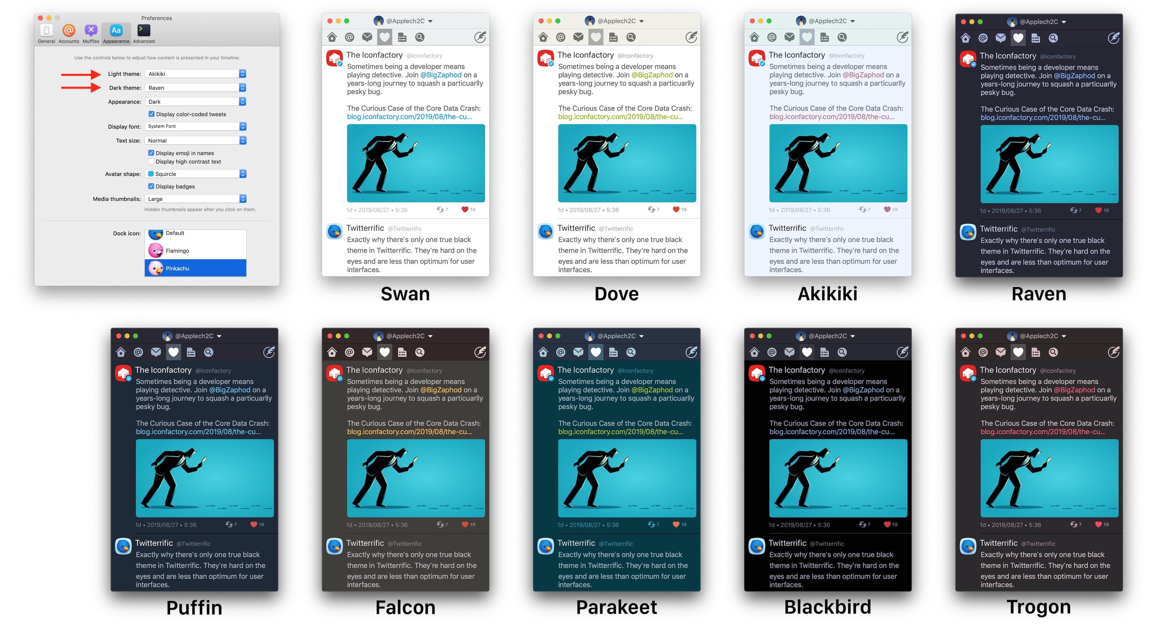 Twitterrific for Macの新テーマ