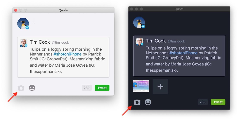 Twitterrific for Mac v5.4の引用ツイート画像