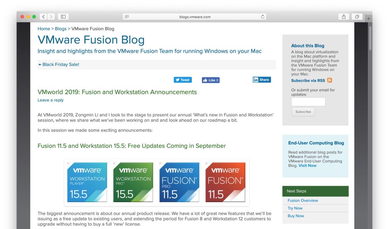 VMware Fusion v11.5