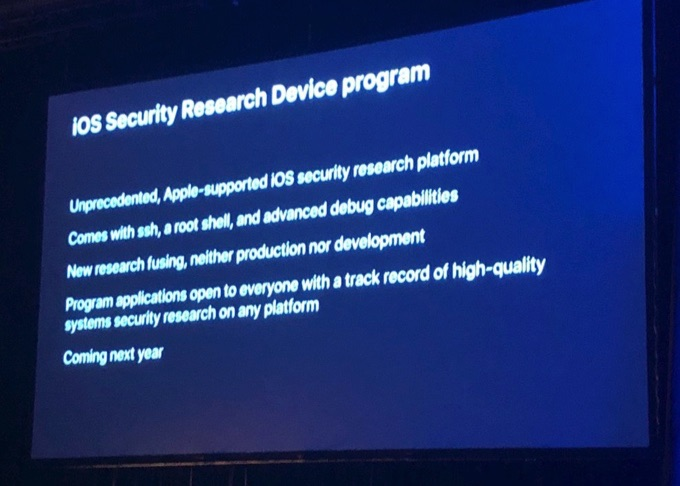 iOS security research device program