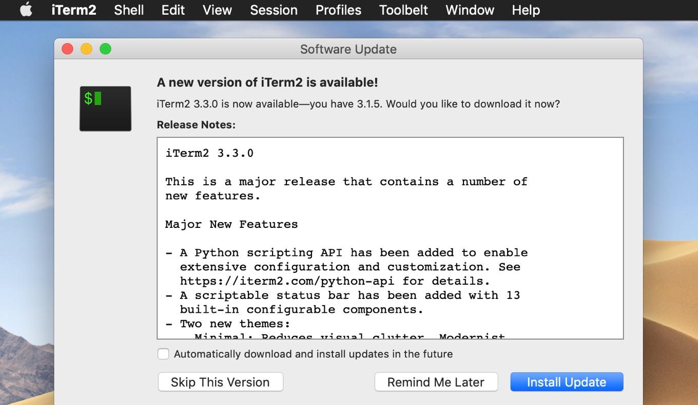 iTerm2 v3.3.0