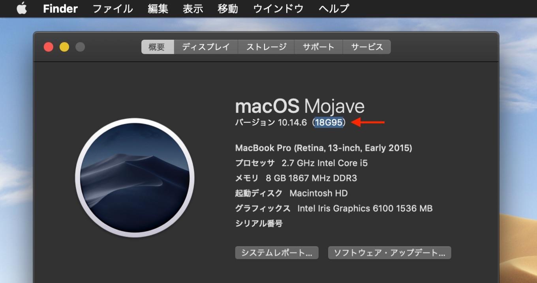 macOS Mojave 10.14.6追加アップデート (Build 18G95)
