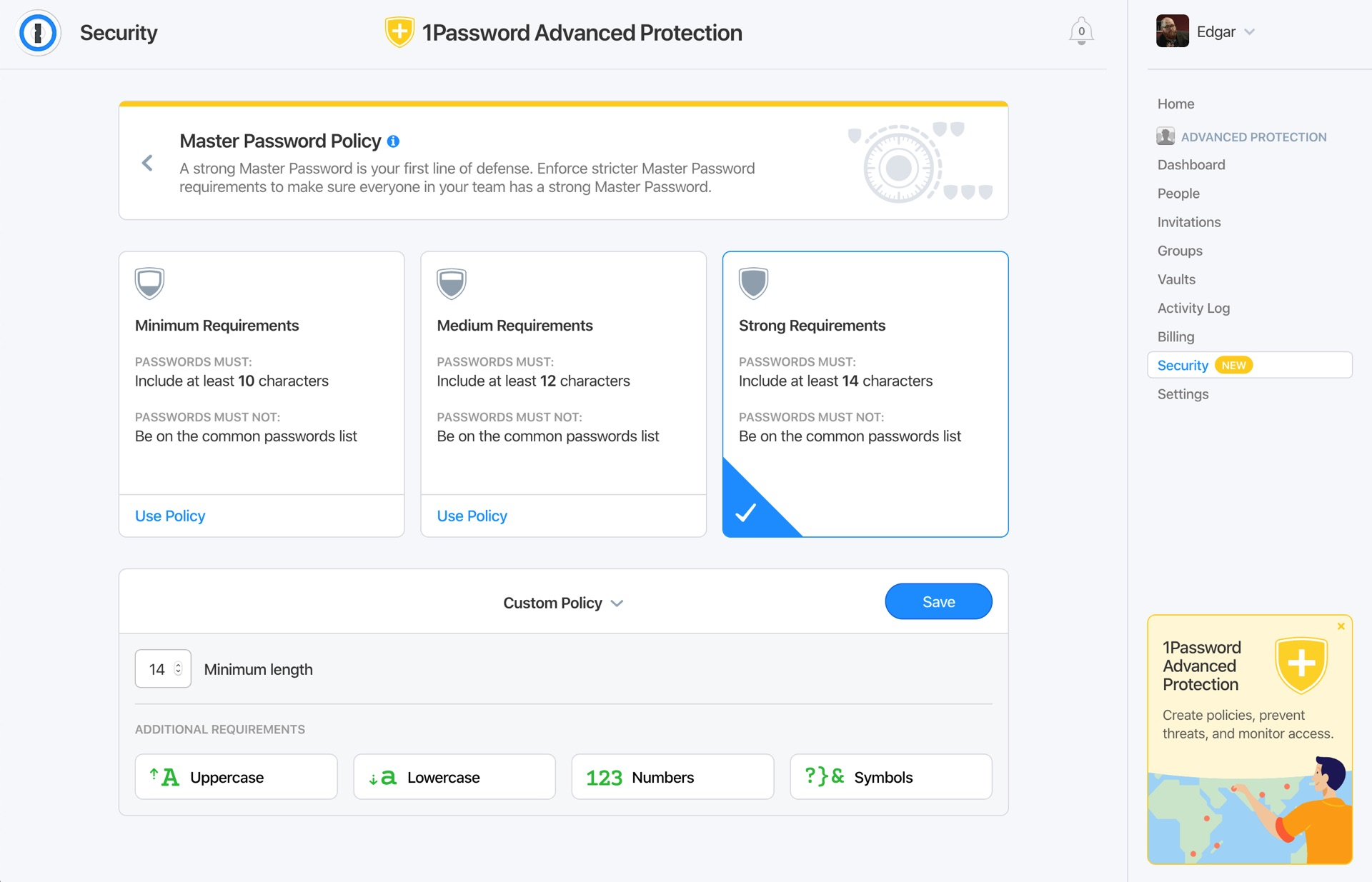 1Password Advanced Protection