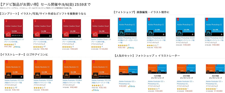 Adobe CCコンプリートセール