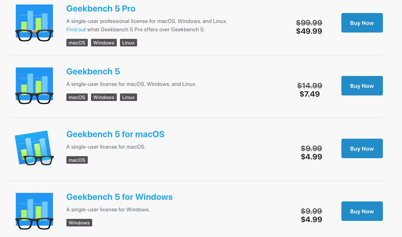 Geekbench 5 Licence