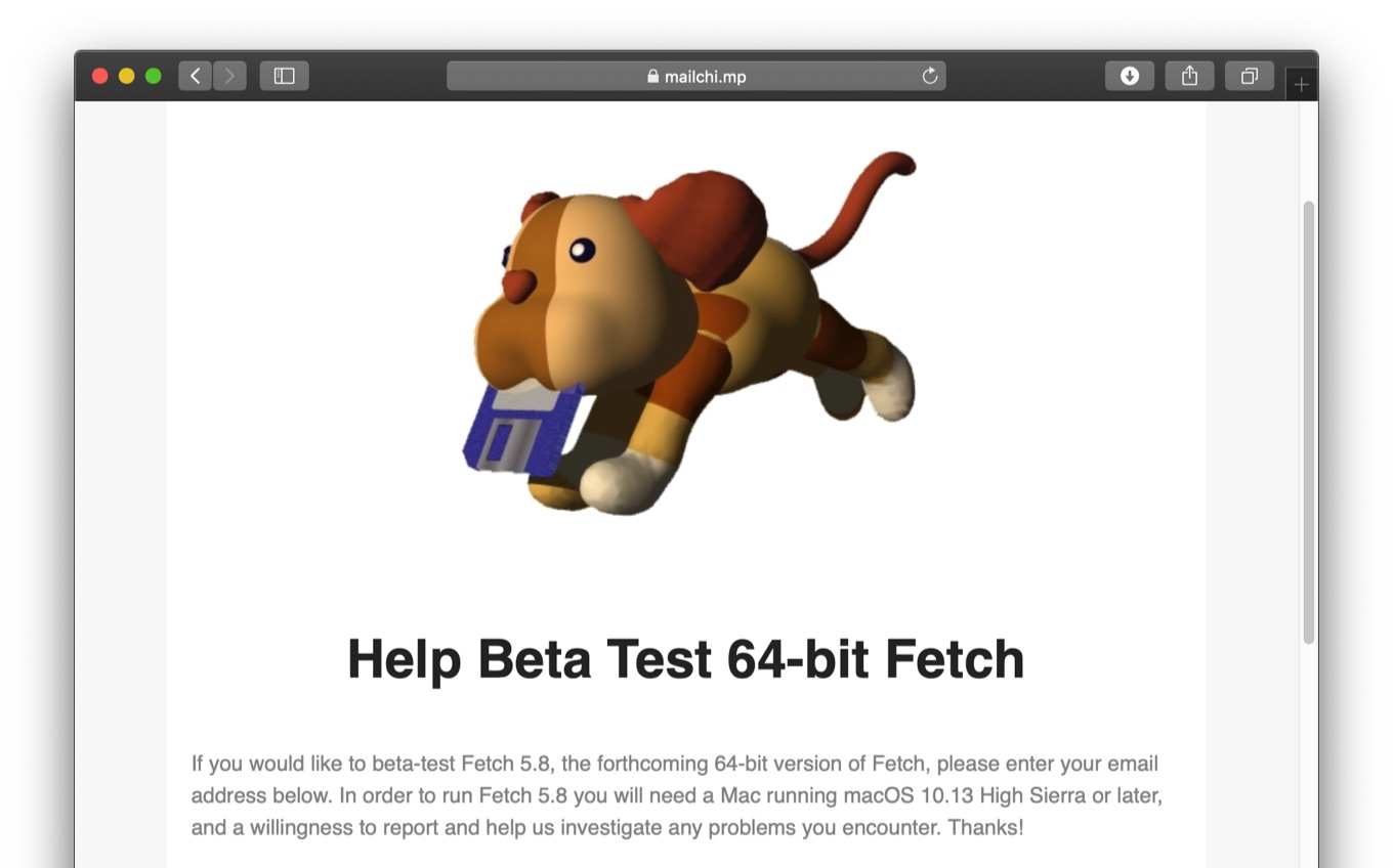 Help Beta Test 64-bit Fetch