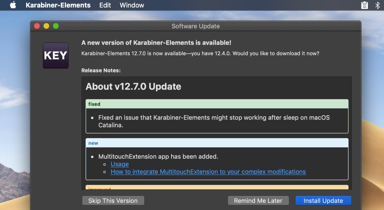 Karabiner-Elements 12.7.0