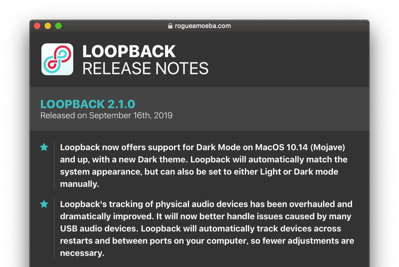 Rogue Amoeba LOOPBACK 2.1.0