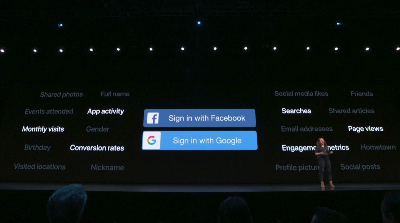 Sign in with AppleとGoogle, Facebook