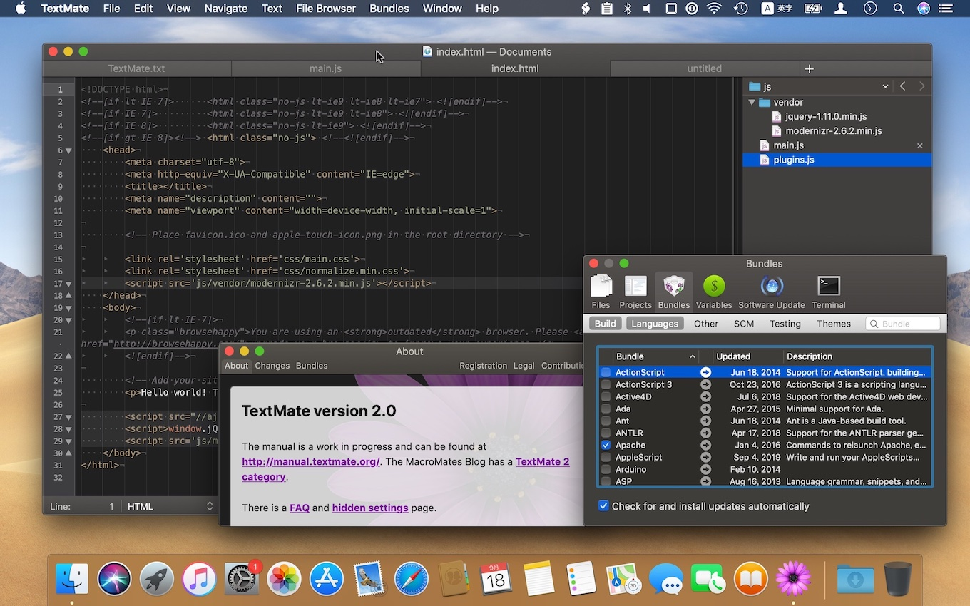 TextMate: Text editor for macOS