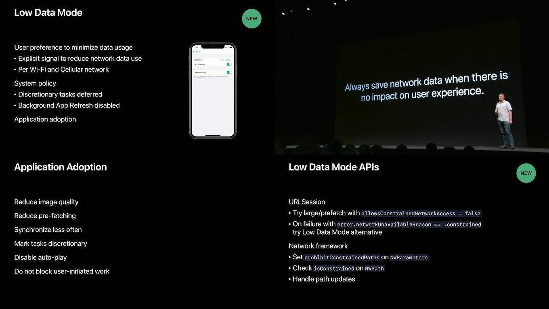 iOS 13のLow Data Mode