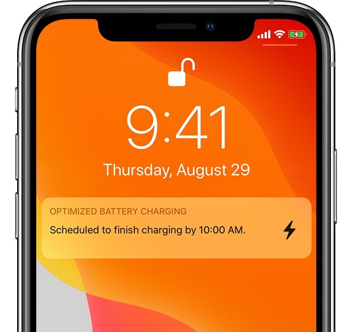 iOS 13 Optimized Battery Charging