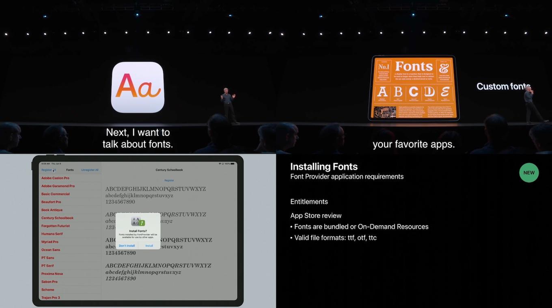 iOS 13とiPadOS 13でサポートされたカスタムフォント