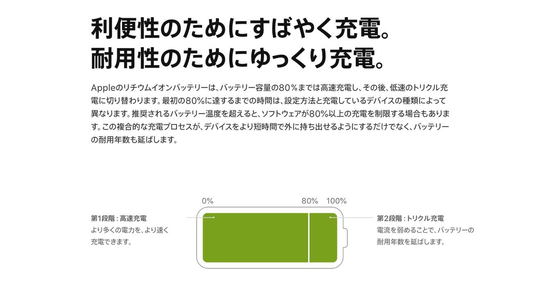 iPhoneのリチウムイオンバッテリー