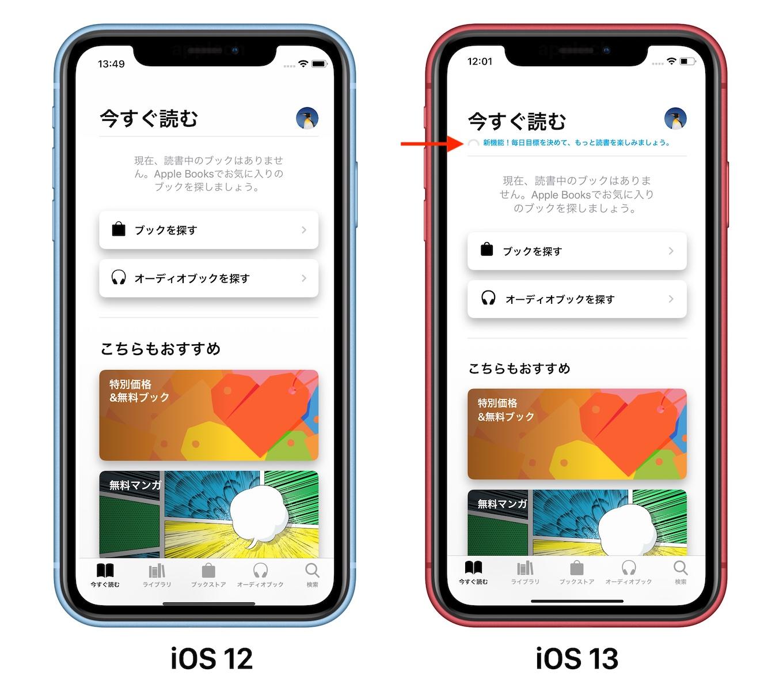iOS 13のApple Booksアプリ読書目標