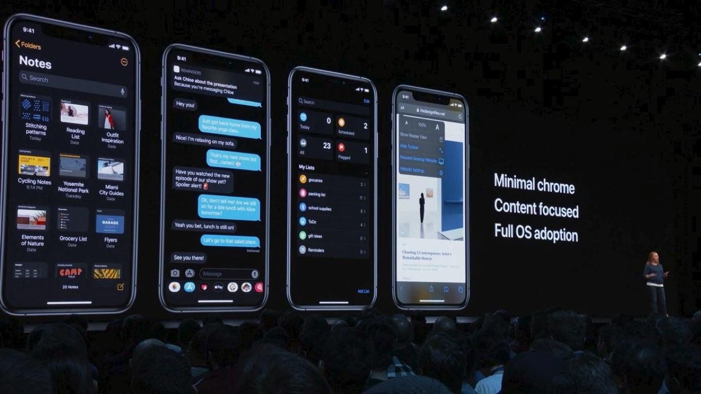 iOS 13がダークモードをサポート