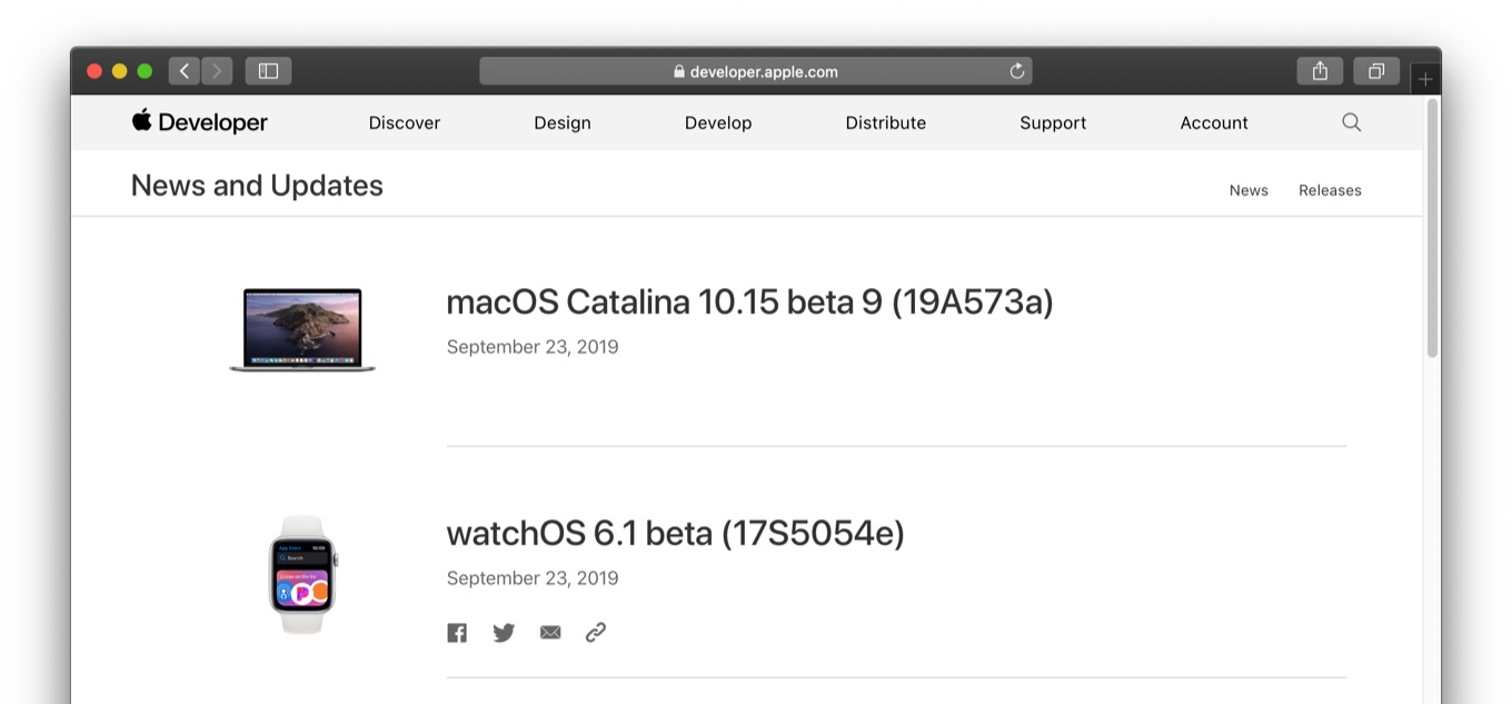 macOS Catalina 10.15 beta 9 (19A573a)