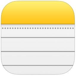 iOS 13のノートアプリのアイコン